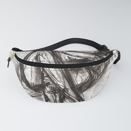 Brave - Charcoal on Newspaper Figure Drawing Fanny Pack