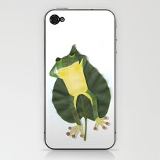 Lazy frog. iPhone & iPod Skin
