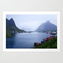 Welcome to Lofoten Art Print