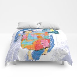 Sleeping and dreaming illustration, design for children Comforters