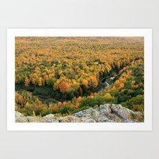 Autumn Colors at the Carp River Valley, Porcupine Mountains State Park, Upper Peninsula, MI Art Print
