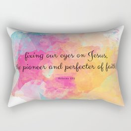 Perfecter of Faith, Scripture Tote Bag Rectangular Pillow