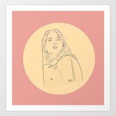 Scarlett // Charlotte Art Print