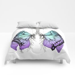 Butterfly Lungs Blue Purple Comforters