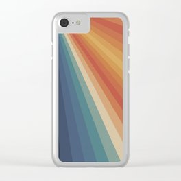 Retro 70s Sunrays Clear iPhone Case