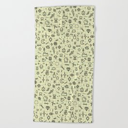 Doodles Pattern Beach Towel