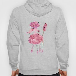 Poodle, watermelon fairy floss with green baubles Hoody