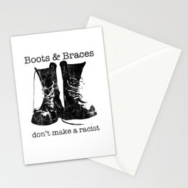 Boots & Braces graphic - Skinhead design - Anti-racist skins Stationery Cards
