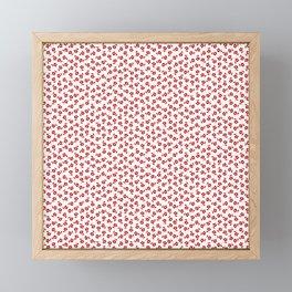 Forget Me Nots - Red on White Framed Mini Art Print