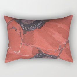 Poppies for remembrance- the cost for peace Rectangular Pillow