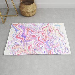 Abstract Colorful Marble Rug