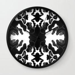 Monochrome Lagoon Wall Clock