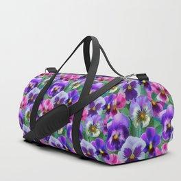 Bouquet of violets I Duffle Bag