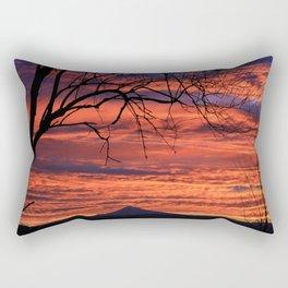 Sky on Fire Rectangular Pillow