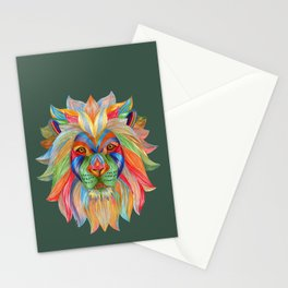Rainbow Lion Stationery Cards