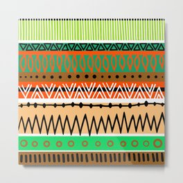 Simple Tribal Art Metal Print