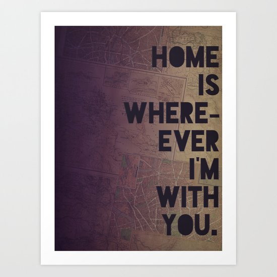 With You Art Print