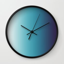 Blue White Gradient Wall Clock