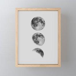 Moon Phase Wall Art Moon Home Decor Moon Phases Nursery Decor Poster Minimalist Print Gothic Boho Framed Mini Art Print