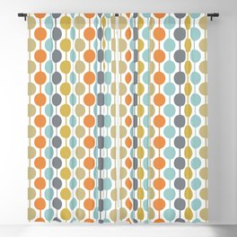 Retro Circles Mid Century Modern Background Blackout Curtain