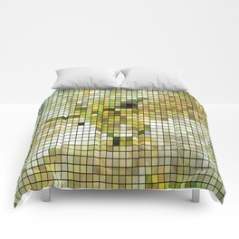Pale Yellow Poinsettia 1 Mosaic Comforters