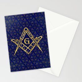 Freemasonry symbol Square and Compasses Stationery Cards