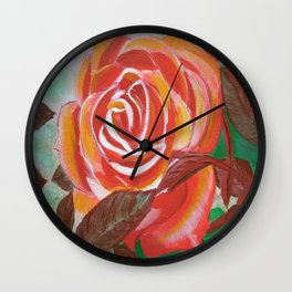 Single Rose Wall Clock