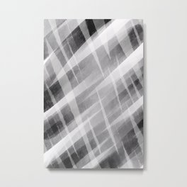 Abstract Painting No. 23 – black/white and in between Metal Print