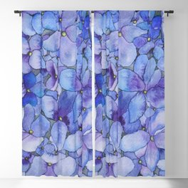 Watercolour Hydrangea Blackout Curtain