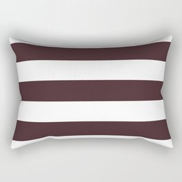 Temptress - solid color - white stripes pattern Rectangular Pillow
