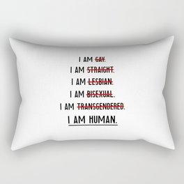 Human rights | against discrimination LGBT Rectangular Pillow