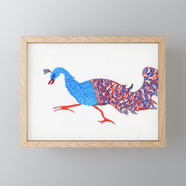 Evil eyed peacock Framed Mini Art Print