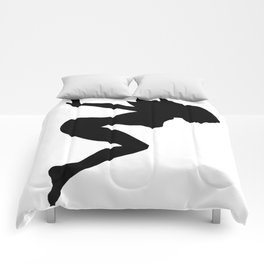 Our Bodies Our Way Future Is Female Feminist Statement Mudflap Girl Diving Comforters