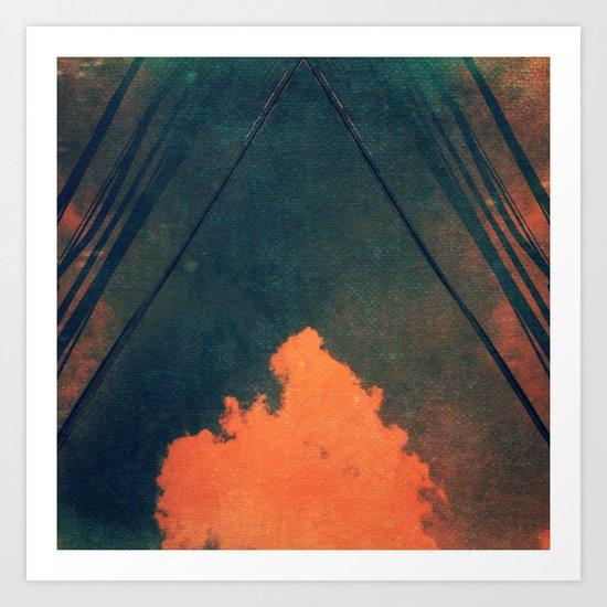 Presence (Pilliar of Cloud/Pillar of Fire) Art Print