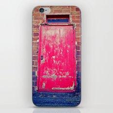 Red alley door iPhone & iPod Skin
