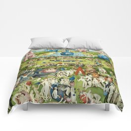 The Garden of Earthly Delights by Hieronymus Bosch Comforters