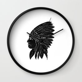 Indian Chief / Black Edition Wall Clock