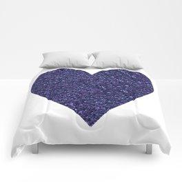 Sparkling Heart blue Comforters
