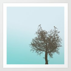 Tree with Birds Art Print