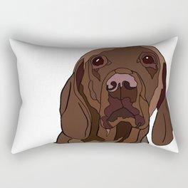 Ruby the Vizsla Rectangular Pillow