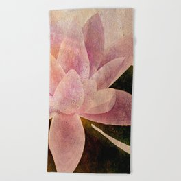 Lotus of my Heart Beach Towel