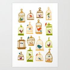 Bird Cages Art Print