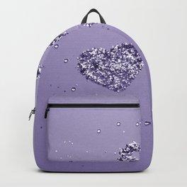 Ultra Violet LOVE Glitter Hearts #1 #shiny #decor #art #society6 Backpack