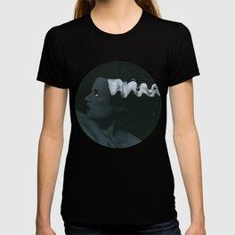 Frankenstein's bride on vinyl record print T-shirt