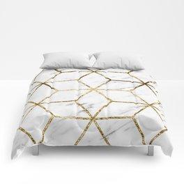 Gatsby golden marble Comforters
