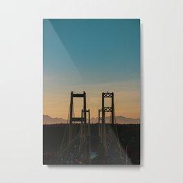 Tacoma Narrows Sunset Metal Print
