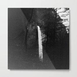 Multnomah Falls in Black and White - Film Photograph Metal Print
