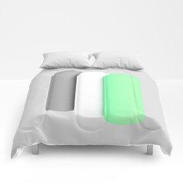 Tubes green Comforters