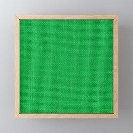 Natural Woven Neon Green Burlap Framed Mini Art Print