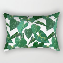Philodendron Plant | White Rectangular Pillow